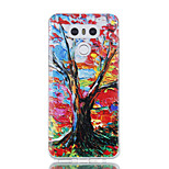 For LG G6 Case Cover The Tree Pattern Shiny Painted  Embossed TPU Soft Case
