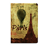 For  Apple iPad Mini 3/2/1 Case Cover with Stand Flip Pattern Auto Sleep/Wake Up Full Body Case Eiffel Tower Hard PU Leather