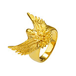 Gothic Fashion Eagle Gold Plated Ring Jewelry For Special Occasion Halloween