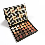 Eyeshadow Makeup Mini Palette 35 Colors Nature Glow Metallic Matte Warm Shimmery Makeup Eye Shadow Cosmetic Pigment Checked Case Kit
