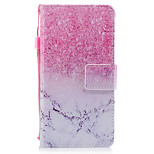 For Huawei P8 Lite (2017) P10 Case Cover Marble Pink Sand Pattern Painted PU Skin Material Card Stent Wallet Phone Case P10 Plus P10 Lite