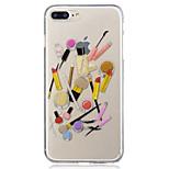 Для яблока iphone 7 7 плюс 6s 6 плюс se 5s 5 косметический узор окрашенное высокое проникновение tpu материал imd процесс мягкий чехол