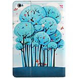For Apple iPad Mini 3/2/1 with Stand Flip Magnetic Pattern Full Body Case Cartoon Tree Hard PU Leather