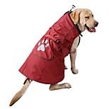 Собака Плащи Толстовка Одежда для собак На каждый день Спорт Мода Сплошной цвет Красный Синий