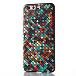For Huawei Mate 8 Mate 9 Pro Case Cover Grid Pattern Pattern Relief TPU Material Phone Case P10 P9 P8 Lite 2017 6X NOVA V9