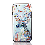 For Apple iPhone 7 7 Plus iPhone 6s 6 Plus Case Cover The Deer Pattern 3D Relief Plastic Back Shell TPU Frame Cases