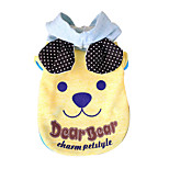 Dog Hoodie Dog Clothes Cute Fashion Casual/Daily Cartoon Blue Yellow