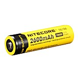 2pcs Nitecore 2600mah nl1826 3.7v 9.6wh batería recargable 18650 li-ion