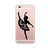 For iPhone 7 Plus 7 Case Cover Ultra Thin Pattern Back Cover Case Word  Phrase Soft TPU for iPhone  6s Plus  6 Plus SE 5S  5