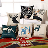 9 Style Cotton/Linen Deer Pillow Covers Fashion Creative Pillow Case
