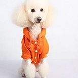Dog Sweatshirt Dog Clothes Casual/Daily Solid Ruby Gray Orange Black