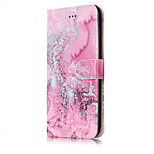 For Huawei P10 /P10 Lite Case Card Holder With Stand Flip Case Marble Hard PU Leather For Huawei P8 Lite 2017