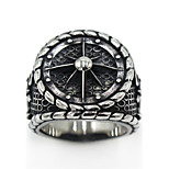 Women's Men's Ring Jewelry Logo Style Gothic Stainless Steel Circle Jewelry Special Occasion Party/ Evening Daily Thanksgiving
