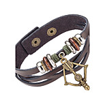 Men's Leather Bracelet Wrap Bracelet Jewelry Natural Fashion Leather Alloy Irregular Jewelry For Special Occasion Gift Sports 1pc