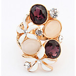 Euramerican Fashion Elegant Beautiful Rings Rhinestone Sapphire Flower Women's Rings  Jewelry Gifts