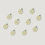 1.5W LED Crystal Light G4 9SMD 5050 White/Warm White DC12V 10Pcs