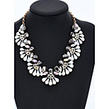 Women's Collar Choker Necklace Crystal Cubic Zirconia Imitation Diamond Circle Round Rose Gold Crystal Glass Rhinestones Basic Circular Flower
