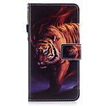 Для яблока iphone 7 7 плюс 6s 6 плюс se 5s 5 чехол для экрана тигра шаблон окрашен pu кожа материал карта стент кошелек телефон чехол