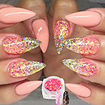 1 Bottle Nail Art DIY Glitter Sweet Style Pink Decoration Shining Mixed Hexagonal Design Match Colors Sequin Thin Slice Power Manicure DIY Beauty T