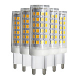 YWXLight® Dimmable 5pcs G9 9W 88LED 2835SMD 750-850 Lm Warm White/Cool White/Natural White LED Ceramics Lamp AC 220-240V