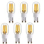 6Pack-G9 4W LED Bulb - Bi-Pin LED Filament Bulb - Equivalent to 40W Halogen Lamp Replacement - 360 Omni-direction Beam Angle - Warm White 220V-240V