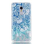 Til xiaomi redmi note 4 case cover blå blade mønster skinnende malet præget tpu blødt tilfælde