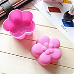 Random Color Set of 12 Reusable and Non-stick Plum Blossom Shape Silicone Baking Cups / Cupcake Liners/Muffin Cup Molds