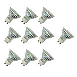 3W LED Spotlight GU10 60 SMD 3528 280-320 Lm White/Warm White AC220-240V 10Pcs