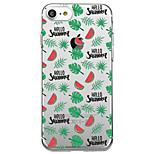 Для iphone 7 плюс 7 чехол чехол прозрачный узор задняя крышка чехол фрукты мягкий tpu для iphone 6s плюс 6s 6 плюс 6 5s 5 se