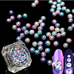 1Bottle Fashion 3D Nail Art Gorgeous Decoration Magic Mermaid Gradient Color Round Pearl Design For Manicure DIY Beauty