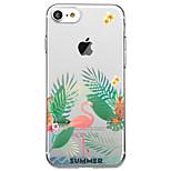 Voor iphone 7 plus 7 case cover transparant patroon back cover case flamingo soft tpu voor iphone 6s plus 6s 6 plus 6 5s 5 se