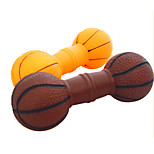 Dog Toy Pet Toys Chew Toy Squeak / Squeaking Dumbbell Rubber