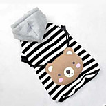 Dog Coat Hoodie Dog Clothes Cute Sports Casual/Daily Cartoon Gray