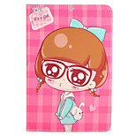 For Apple iPad Mini1 2 3/4 Case Cover with Stand Flip Pattern Full Body Case Sexy Lady Cartoon Hard PU Leather