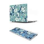 For MacBook Air 11 13 Pro Retina 13 15 Macbook 12 Case Cover PVC Material Oil Painting Flower with US Silicone Keyboard Protector