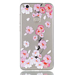For Huawei P8 Lite (2017) P9 Lite Phone Case TPU Material Peach Blossom Pattern Relief Phone Case P8 Lite