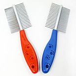 Fashion Handle Pet Cat Dog Combs Foot Print Style Open Knot Pet Combs Beauty BrushAccessories Supplies
