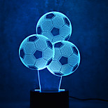 Christmas Football Touch Dimming 3D LED Night Light 7Colorful Decoration Atmosphere Lamp Novelty Lighting Christmas Light