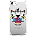 Pour iphone 7 plus 7 housse couverture écologique coque arrière recouvert de motifs transparents animal cartoon doux tpu pour iphone 6s