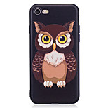 For Apple iPhone 7 7 Plus 6S 6 Plus 5S SE Case Cover Owl Pattern Painted Embossed Feel TPU Soft Case Phone Case
