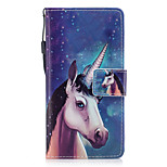 For Huawei P8 Lite (2017) P10 Case Cover Unicorn Pattern Painted PU Skin Material Card Stent Wallet Phone Case P10 Plus P10 Lite
