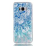 Samsung Galaxy S8 S8 sekä sininen ja valkoinen kuvio helpotus lakka ei haalistu TPU materiaalia puhelinkotelo S7 S7 reuna s6 S5