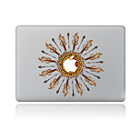For MacBook Air 11 13/Pro13 15/Pro With Retina13 15/MacBook12 Circular Feathers Decorative Skin Sticker