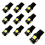 10pcs Ba9s / T10 Blackboard 2W 5 * 5050 SMD LED Reading Light White Light 6500-7000K 12V