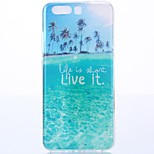 For Huawei P10 TPU Coconut Blue Ocean Case Cover protective cover