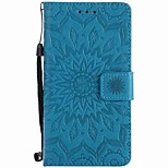For Sony Xperia XZ XA Sunflowers Embossed PU Phone Case for M4 M2 Z5  Z4 mini XA Ultra X Xperformance E5 M5