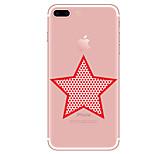 Назначение Чехлы панели Прозрачный С узором Задняя крышка Кейс для Геометрический рисунок Мягкий Термопластик для AppleiPhone 7 Plus