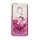 For Huawei P10 Lite P8 Lite (2017) Case Cover Flowing Liquid Pattern Back Cover Case Glitter Shine Owl Soft TPU