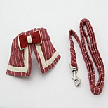 Collar Leash Foldable Adjustable Stripe Fabric