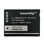 Ismartdigi BCG10 3.6V 895mAh Camera Battery for Panasonic DMC ZS20 ZS1 ZR3 ZS3 ZS5 ZS7 GK